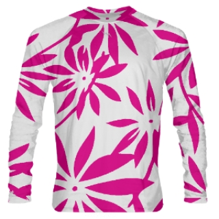 Pink Hawaiian Long Sleeve Shirts