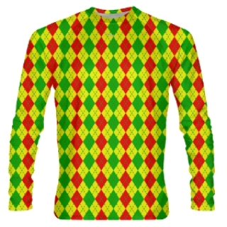 Reggae Argyle Long Sleeve Shooter Shirts