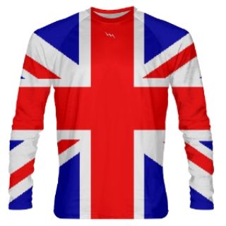 Long Sleeve British Flag Shirts