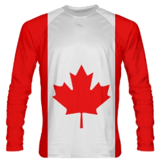 Long Sleeve Canada Flag Shooter Shirts
