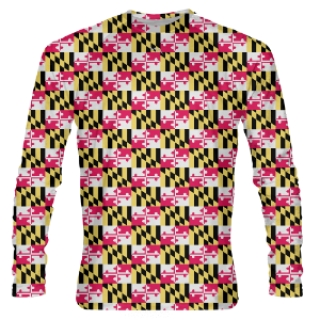 Maryland Flag Small Long Sleeve Shirts