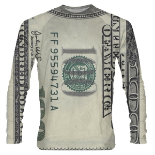 Hundred Dollar Bill Long Sleeve Shooter Shirts