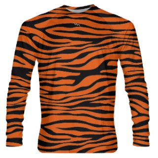 Tiger Striped Long Sleeve Shooter Shirts