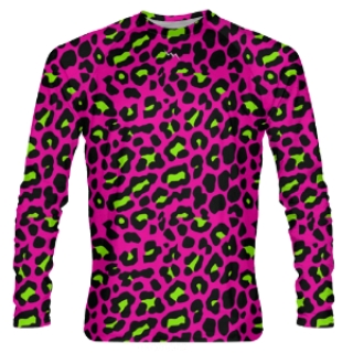 Pink Cheetah Long Sleeve Shooter Shirts