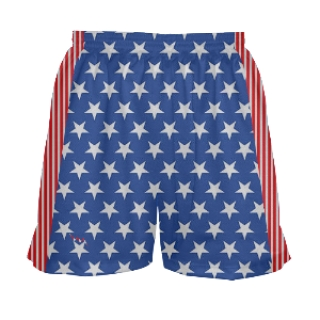 Girls Stars and Stripes Lacrosse Short