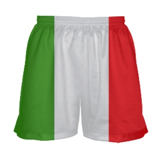 Ladies Lacrosse Shorts - Italian Flag