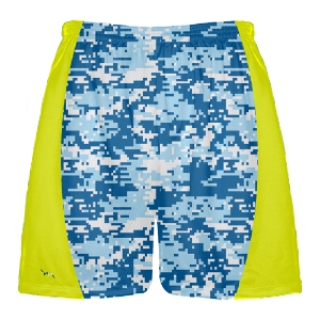 Blue Digital Camouflage Lacrosse Shorts