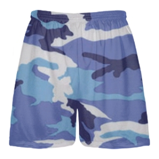 Blue Camouflage Mens Lacrosse Shorts