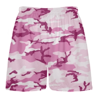 Pink Camo Boys Lacrosse Shorts