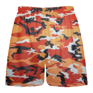 Orange Camouflage Lacrosse Shorts