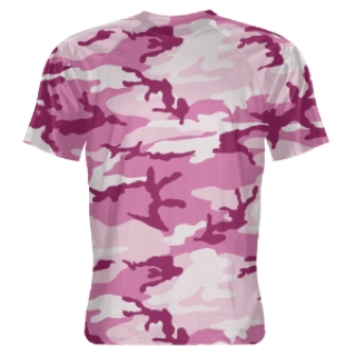 Pink Camouflage Shooter Shirts