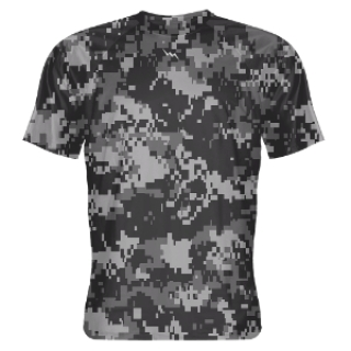 Gray Digital Camouflage Shooter Shirts
