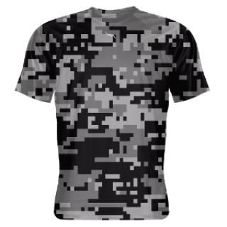 Black Digital Camouflage Shooter Shirts