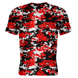 Red Digital Camouflage Lacrosse Shirts