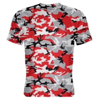 Red and Black Camo Shooter Shirts
