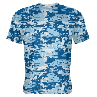 Light Blue Camouflage Lacrosse Shirts