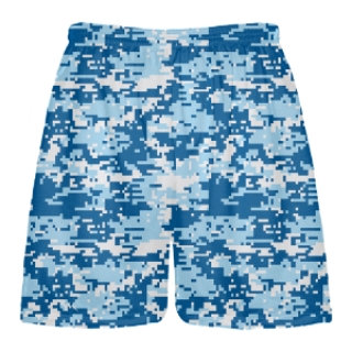 Blue Camo Lacrosse Shorts - Digital Camouflage