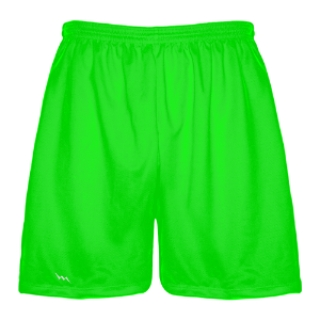 Neon Green Lacrosse Shorts