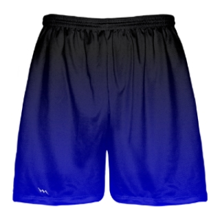 Black to Blue Fade Lacrosse Short