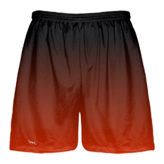 Red to Black Fade Lacrosse Short