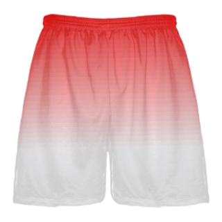 Red to White Fade Lacrosse Short
