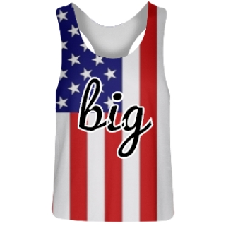 Sorority Big American Flag Pinnie