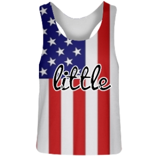 Little Sorority American Flag Pinnie