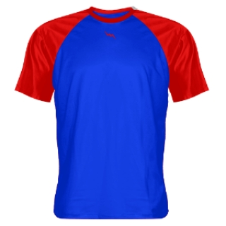 Royal Blue and Red Shooter Shirts