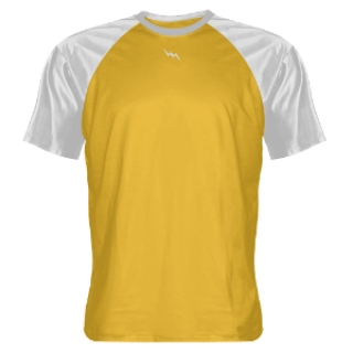Athletic Gold and White Shooter Shirts