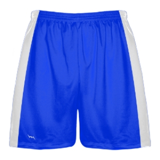 Royal Blue and White Lacrosse Shorts