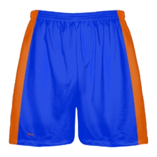 Blue and Orange Lacrosse Shorts