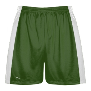 Green and White Lacrosse Shorts