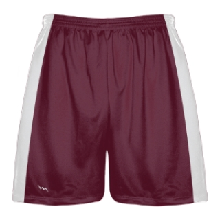 Maroon and White Lacrosse Shorts