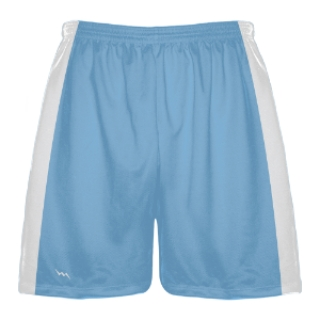 Light Blue and White Lacrosse Shorts