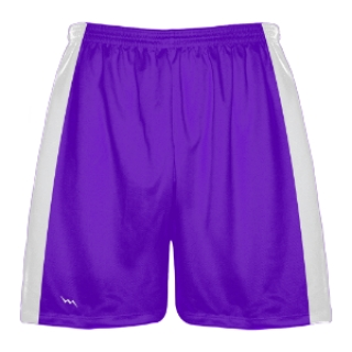 Purple and White Lacrosse Shorts