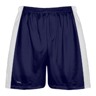 Navy Blue and White Lacrosse Shorts