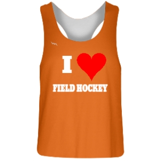 Orange and White Field Hockey Pinnies