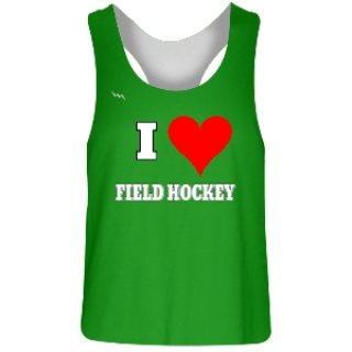Green and White Field Hockey Reversible Jerseys