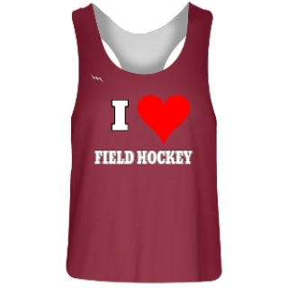 Cardinal Red Field Hockey Reversible Jerseys