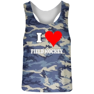 Blue Camo Field Hockey Reversible Jerseys