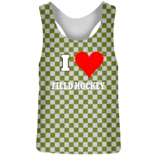 Green Checkerboard Field Hockey Reversible Pinnies