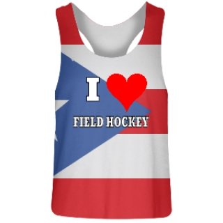 Puerto Rico Flag Field Hockey Pinnies