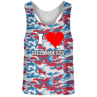 Red White and Blue Camo Field Hockey Jerseys