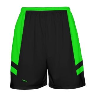 Neon Green and Black Basketball Shorts