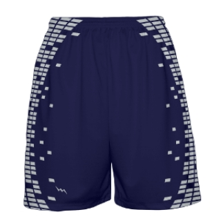 Navy and Silver Basketball Shorts