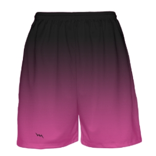 Black to Pink Fade Basketball Shorts