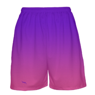 Purple to Pink Fade Basketball Shorts