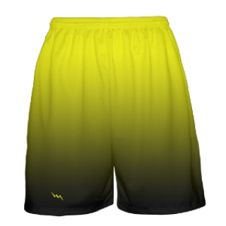 Yellow to Black Fade Basketball Shorts