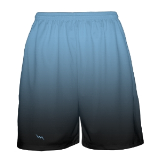 Powder Blue to Black Fade Basketball Shorts