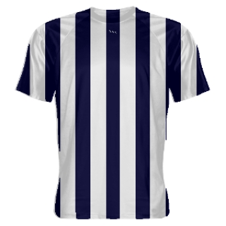 Navy Blue and White Soccer Jerseys